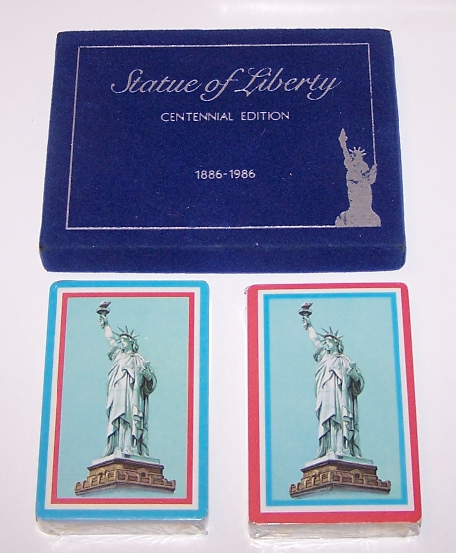 "Double Deck Arrco ""Statute of Liberty Centennial Edition"" Playing Cards, c.1986"