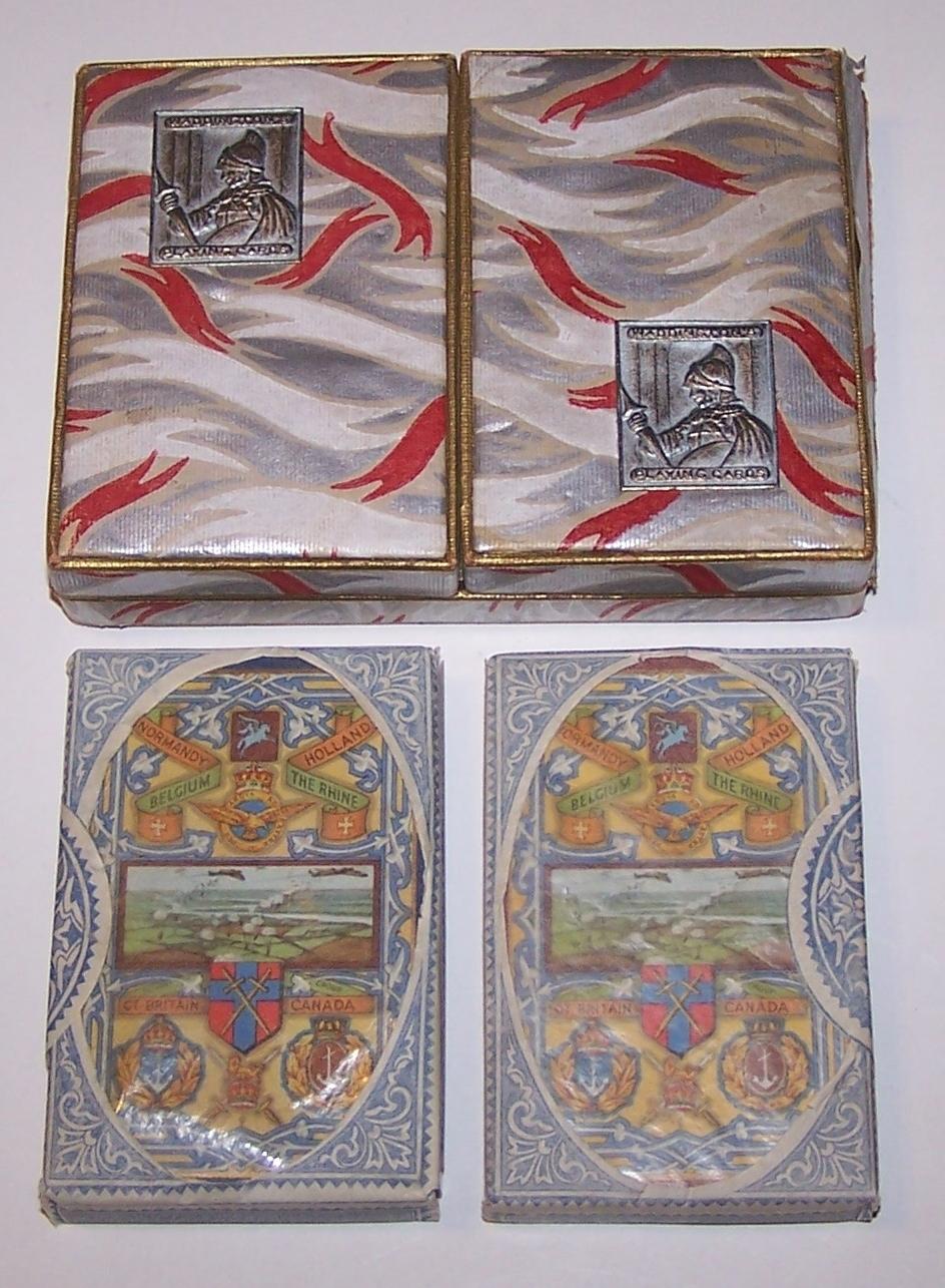 "Double Deck Waddington ""World War II"" Playing Cards, c.1945"