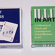 "2 Double Decks Carta Mundi ""Illusion"" Playing Cards, Y&B Associates, Inc. Publisher, $15/ea.: (i) ""Two Decks of Playing Cards with over 100 Illusions and Visual Oddities,"" c.1987; (ii) ""Illusions in Art,"" c.1997"