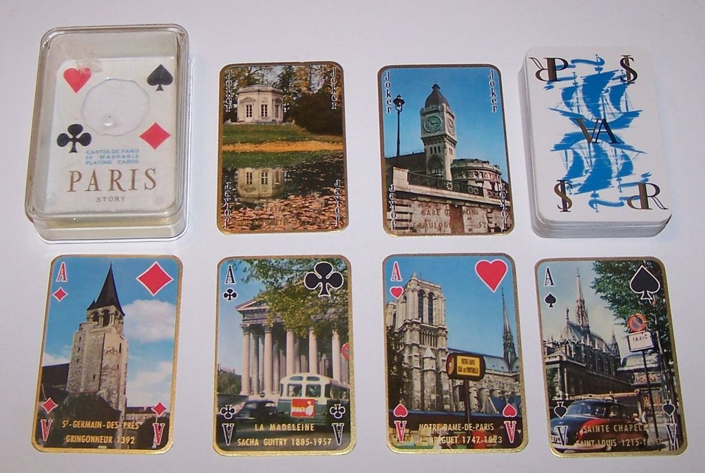 "Philibert ""Paris Scenes"" Playing Cards, c.1960"