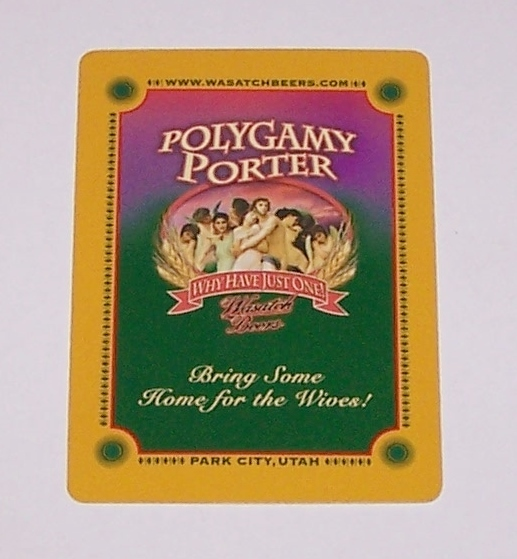 "Gemaco ""Polygamy Porter"" Playing Cards, Wasatch Beers"