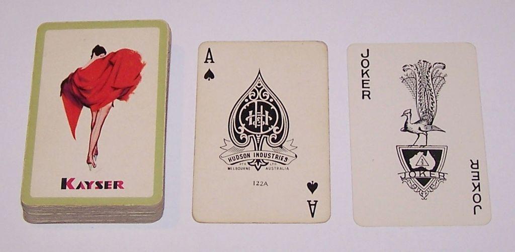 "Hudson Industries ""Kayser"" Pin-Up Playing Cards, c.1953"