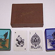 "Double Deck Goodall ""Patience"" Playing Cards, Art Deco Backs, c.1918"
