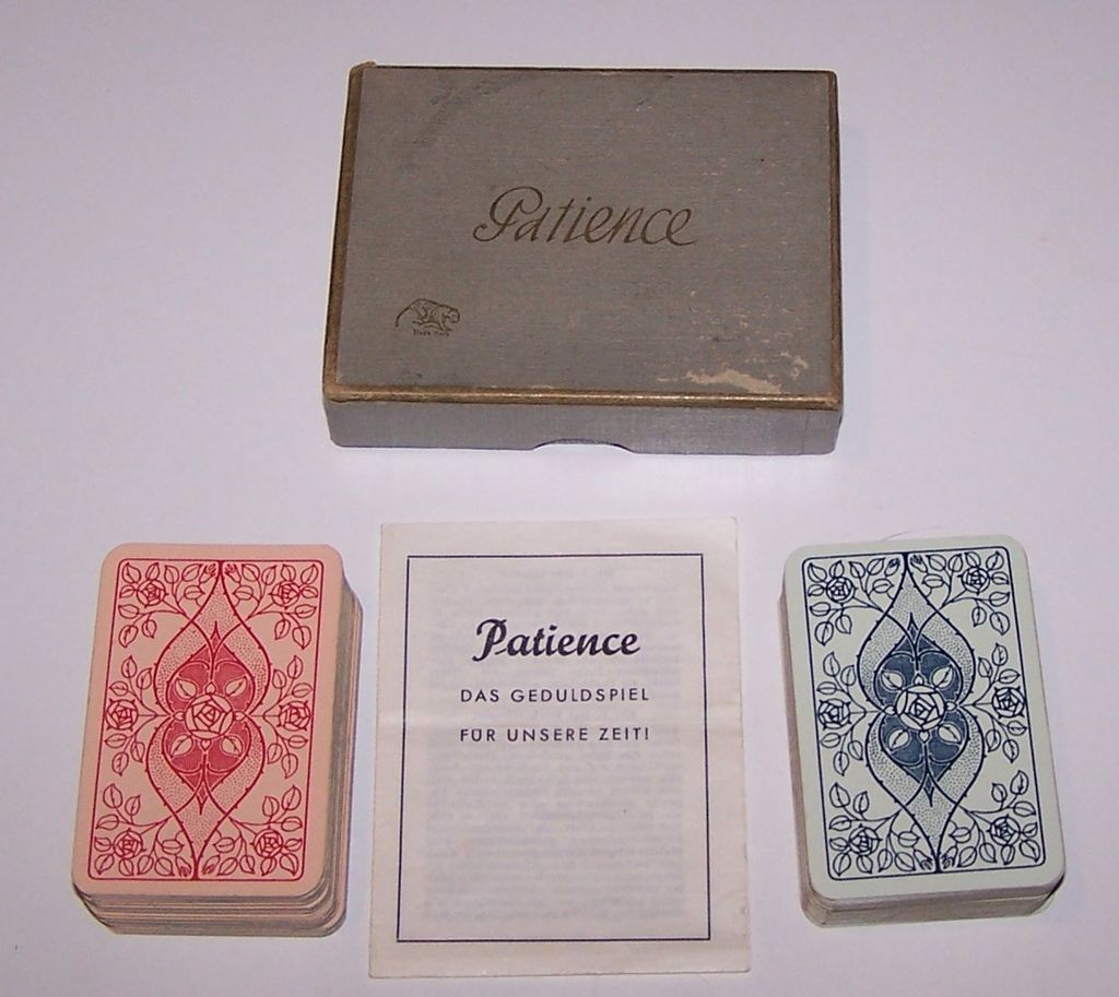 "Double Deck ASS ""Patience"" Playing Cards, c.1950"