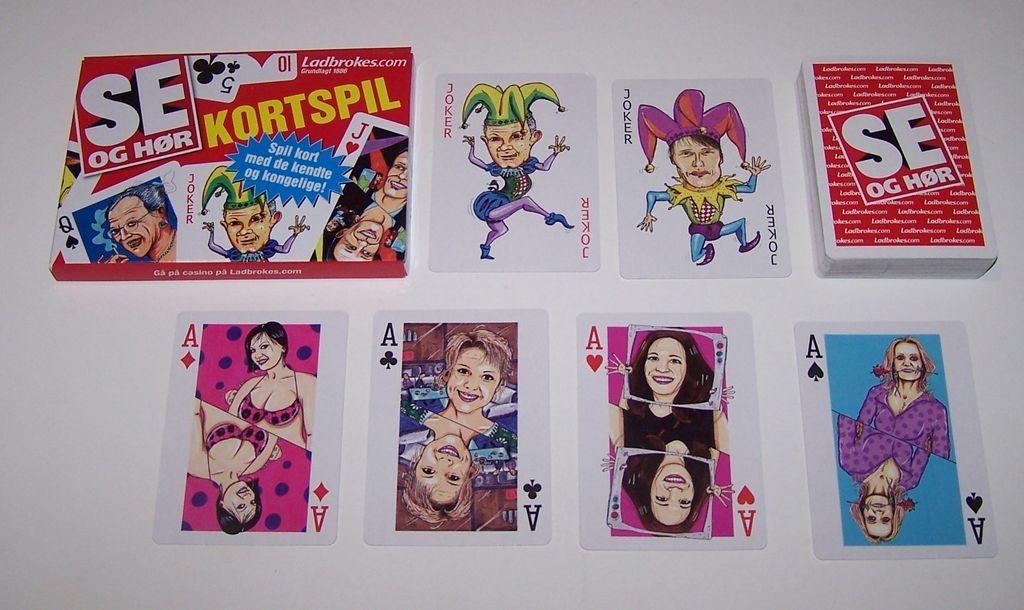 "Se Og Hør (Denmark) ""Ladsbroke"" Playing Cards, Bo Moller Andersen Designs"