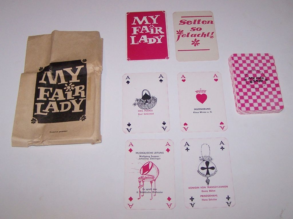 """Karl-Marx-Stadt Stadtische Theater """"My Fair Lady"""" Skat Playing Cards, Maker Unknown, Performance """"Program,"""" c.1967"""