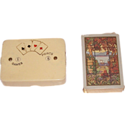 """Plastic Playing Card Box w/Whist Counters, $20, and Congress 606 """"Vista"""" Playing Cards (added), $20, c.1928"""