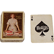 """Mistletoe Ham and Bacon"" Advertising Playing Cards (52/52, NJ), Maker Unknown, c.1910"