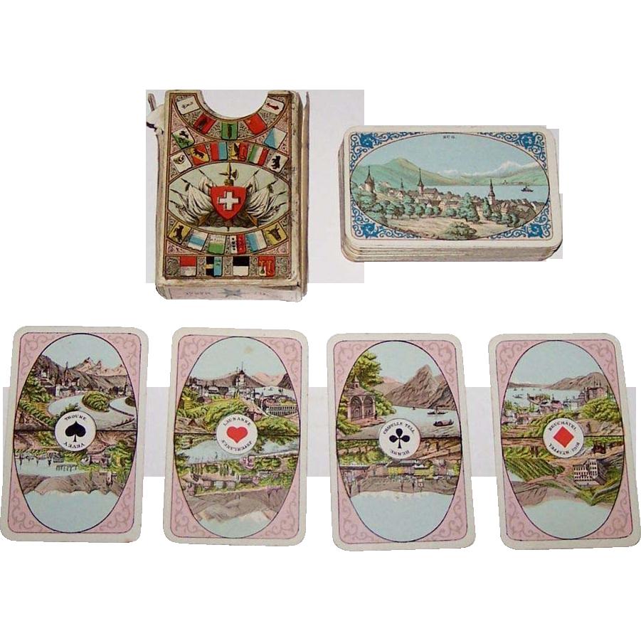 """C.L. Wüst """"Album Suisse Cartes Patience No.90"""" Patience Playing Cards, c.1890"""