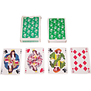 """Le Triboulet """"Scaramouche"""" Playing Cards (52/52, NJ), TAI Advertising, Henri Favre Designs, c.1959"""
