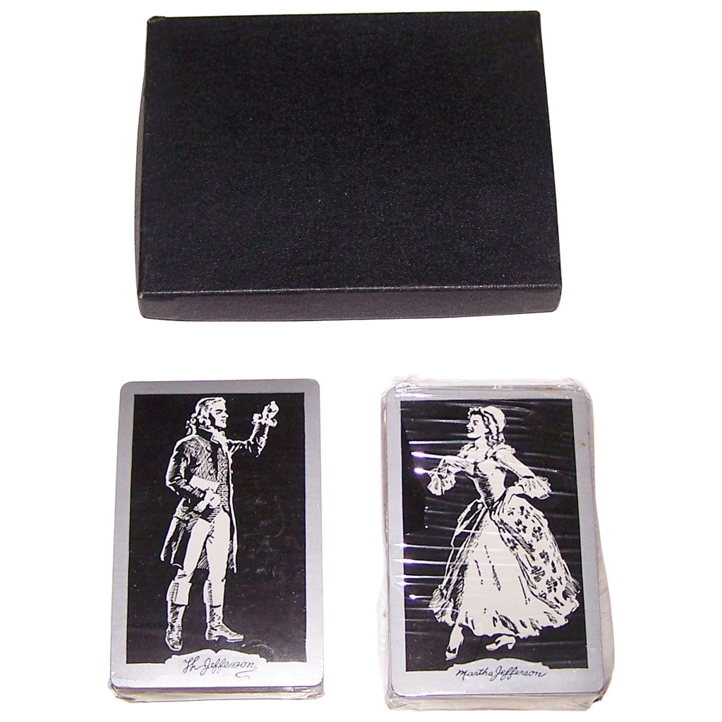 """Double Deck Brown & Bigelow """"Jeffersons"""" Playing Cards, Thomas Jefferson Memorial Foundation, c.1940-1965"""