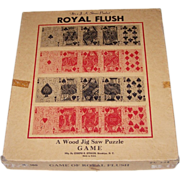 "Joseph K. Straus ""Royal Flush: A Wood Jig Saw Puzzle Game,"" c.1949"