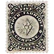 Paper Fabrique Private Die Proprietary Stamp, Scott #RU15b, VF, Short Perf., c.1878-80