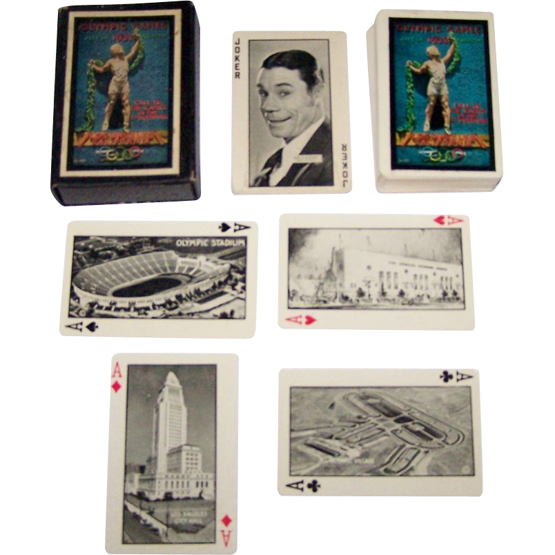 "P.J. Wenger Co. ""Xth Olympiad Playing Cards,"" ""Olympic and Movie Star Souvenir,"" c.1932"