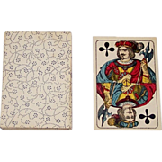 Frommann & Morian Standard Pattern Skat Playing Cards, Engraving w/ Stencil Coloration, c.1880s