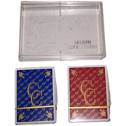 "Double Deck Grimaud ""Lasserre Club de la Casserole"" Playing Cards, c. 1950s"