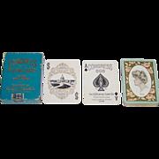 "USPC Congress 606 ""Rose"" Playing Cards, Art Nouveau Backs, c.1905"