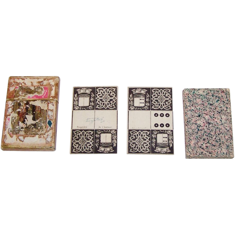 "Dubois Double Six ""Card Dominoes"", Henry Jullier (sp.?) Designs, c.1827 [1727? 1927?]"