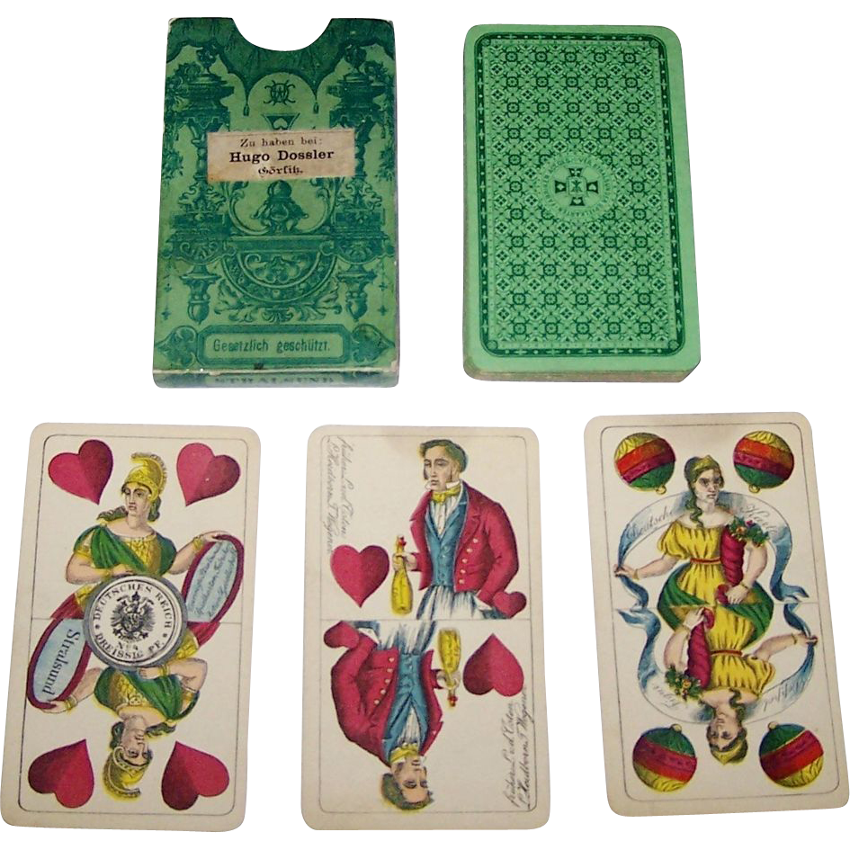 "VSSF ""Preussisches Doppelbild"" (""Prussian Double Ended"") Playing Cards, c.1885"
