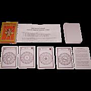 "Merrimack ""Ancient Fortune Telling Cards,"" John Lenthall Reprint (c.1717), James Moxon Original Designs? (""Astrology,"" c.1676), c.1980s"