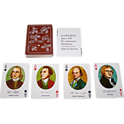 "Merrimack Publishing Corp. ""Declaration of Independence"" Playing Cards, Portraits and Facsimile Signatures of 52 Signers, c.1976"