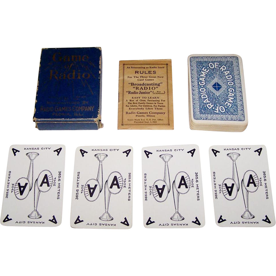 "Radio Games Company ""Game of Radio"" Card Game, c.1924"