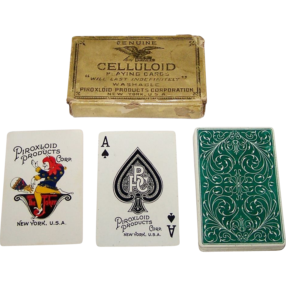 "Piroxloid Products Corporation ""Celluloid"" Playing Cards, c.1928"