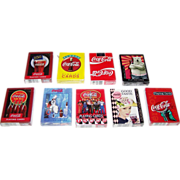 "9 Decks USPC ""Coca Cola"" Playing Cards, $5/ea."
