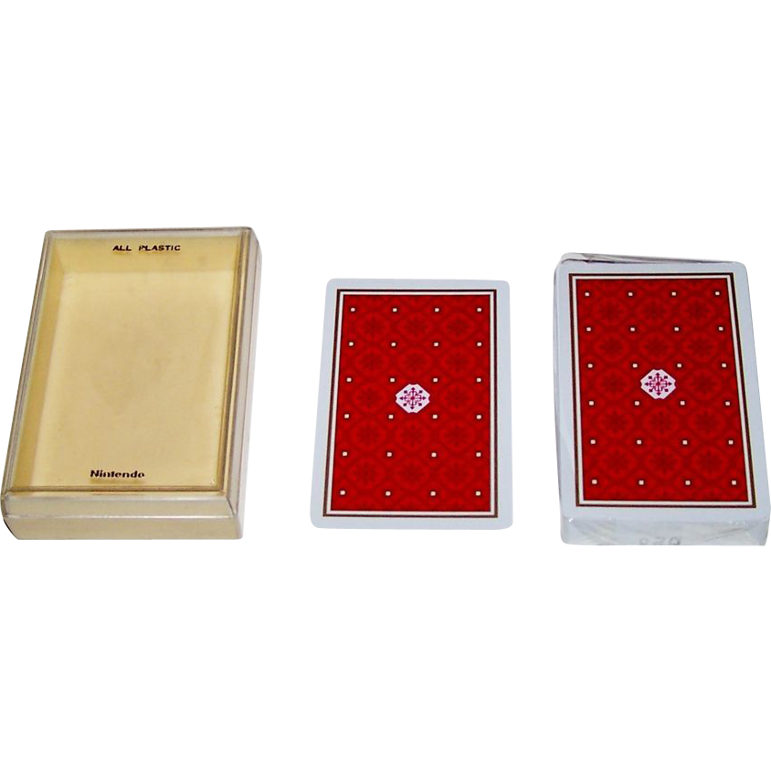 Nintendo Standard English Pattern All Plastic Playing Cards, c.1970s