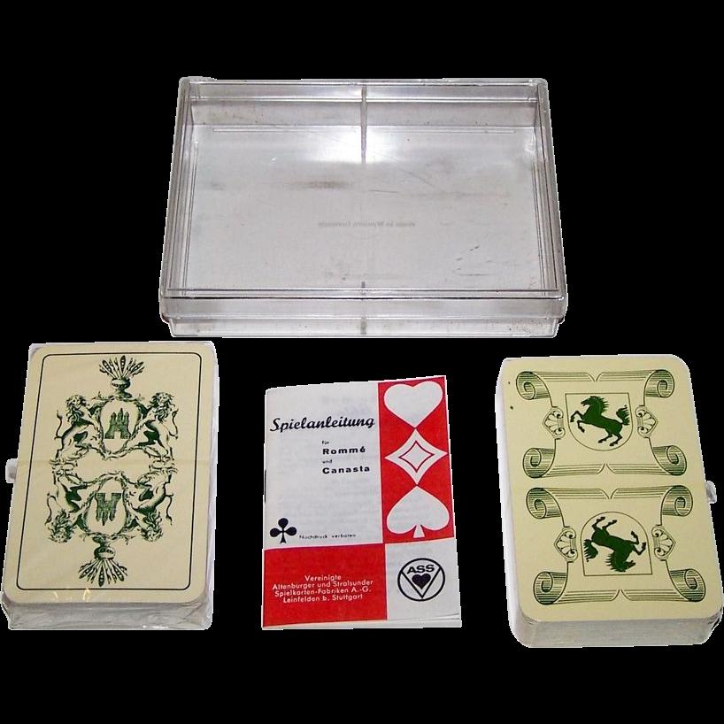 "2 Decks ASS ""Historic"" Playing Cards: (i) Hamburg, c.1975; and (ii) Stuttgart, c.1981, $15/ea."