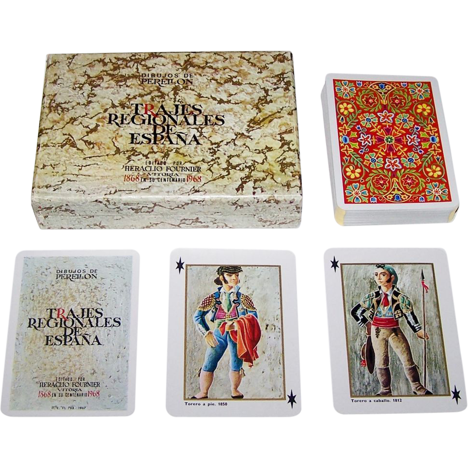"Fournier ""Trajes Regionales de Espana"" (""Regional Costumes of Spain"") Playing Cards, c.1967"