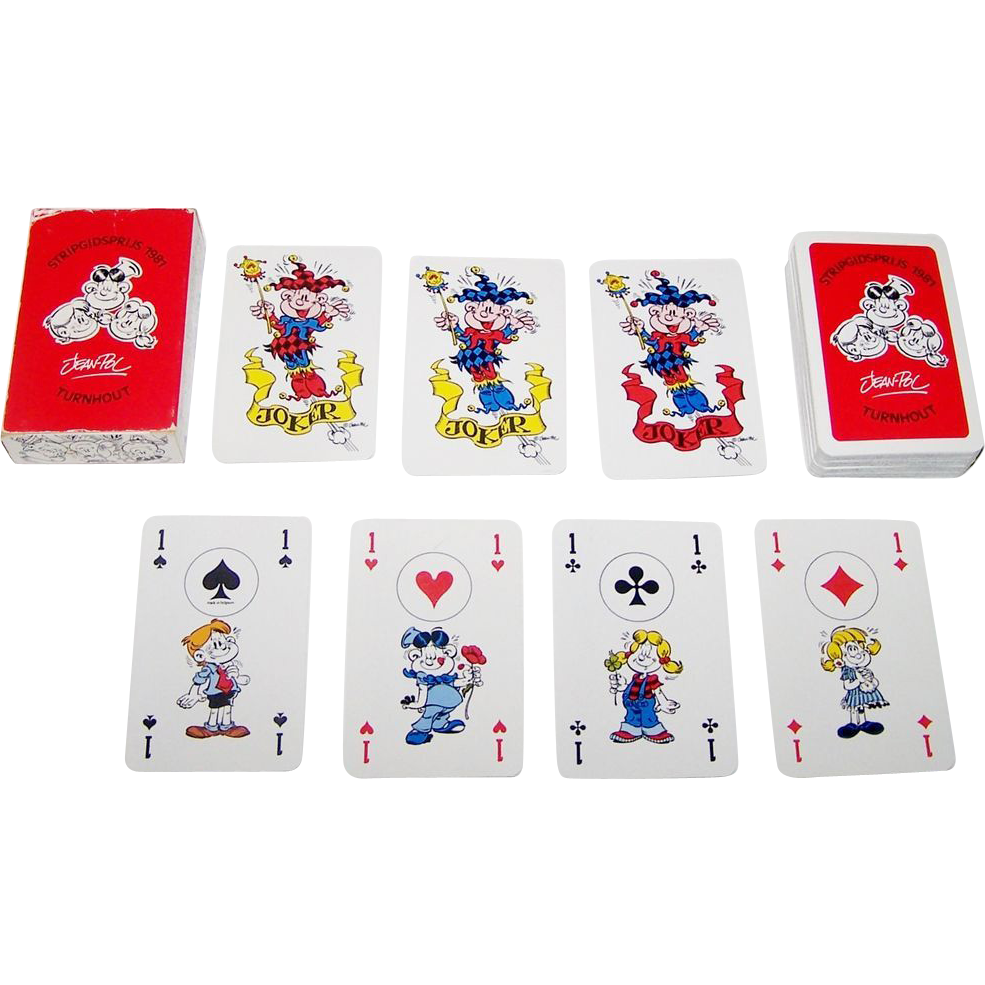 "Carta Mundi ""Stripgidsprijs 1981"" Playing Cards, Jean-Pol Designs, ""Annie en Peter"", c.1981"