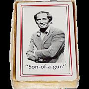 "Brown & Bigelow ""Joey Bishop"" Playing Cards, ""Son-of-a- Gun,"" c.1975"
