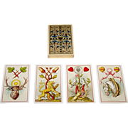 "Wezel & Naumann ""Deutsche Spielkarte"" Playing Cards, T.O. Wegel Publisher, Ludwig Burger Designs, c.1885"