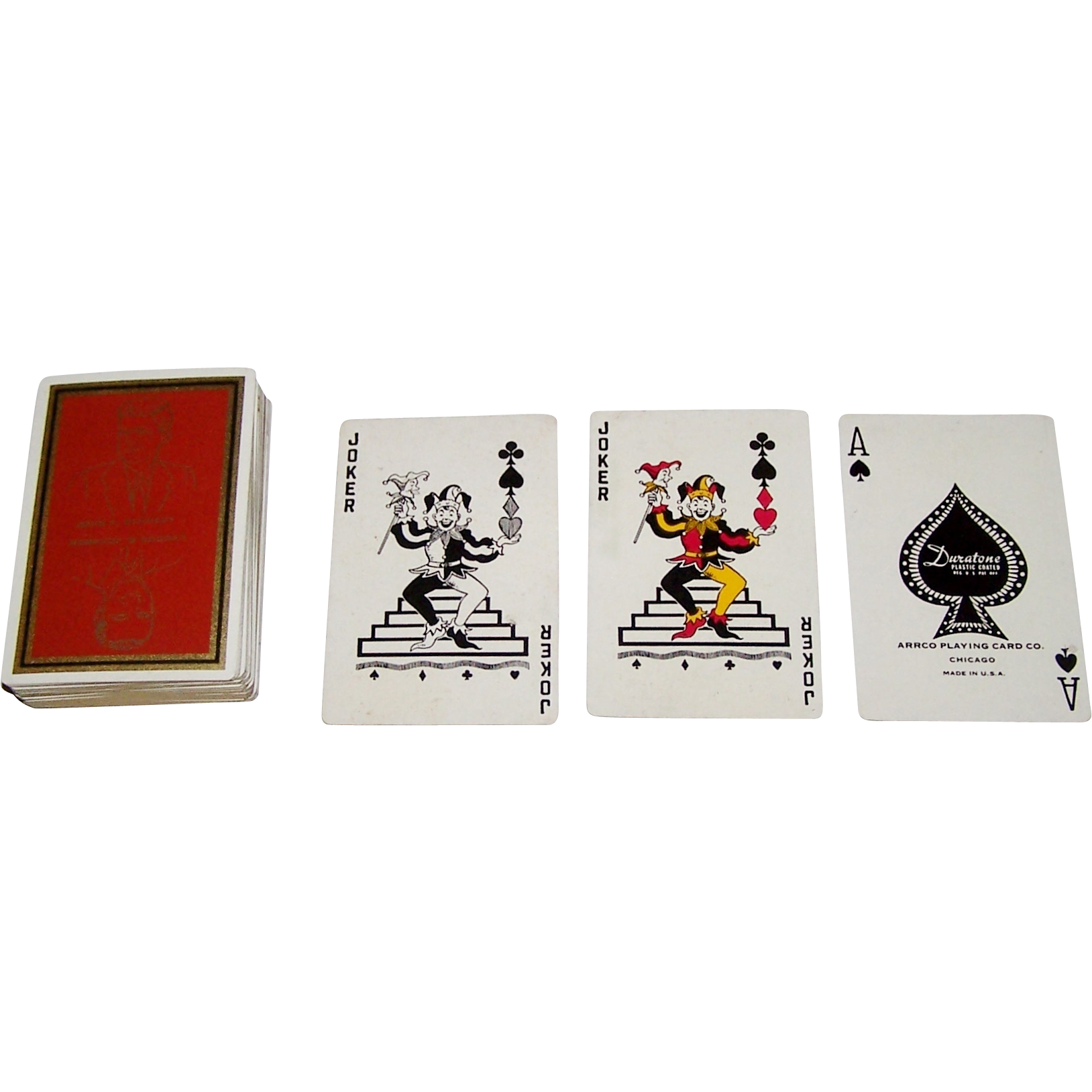 "Arrco ""John Kennedy and Lyndon Johnson"" Playing Cards, c.1960"