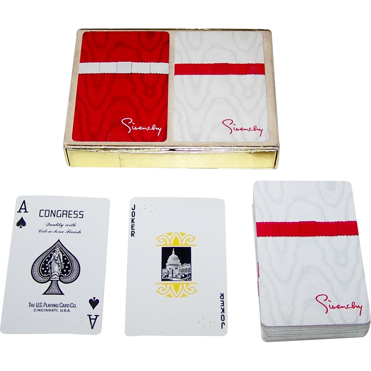 "USPC Congress ""Braille"" Playing Cards, for Givenchy, c.1970s"