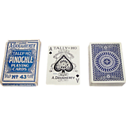 """Dougherty """"Tally Ho No. 43"""" Pinochle Playing Cards, c.1917"""
