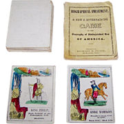 "Richard H. Pease ""Biographical Amusement"" Game (Cards and Booklet), c.1845"