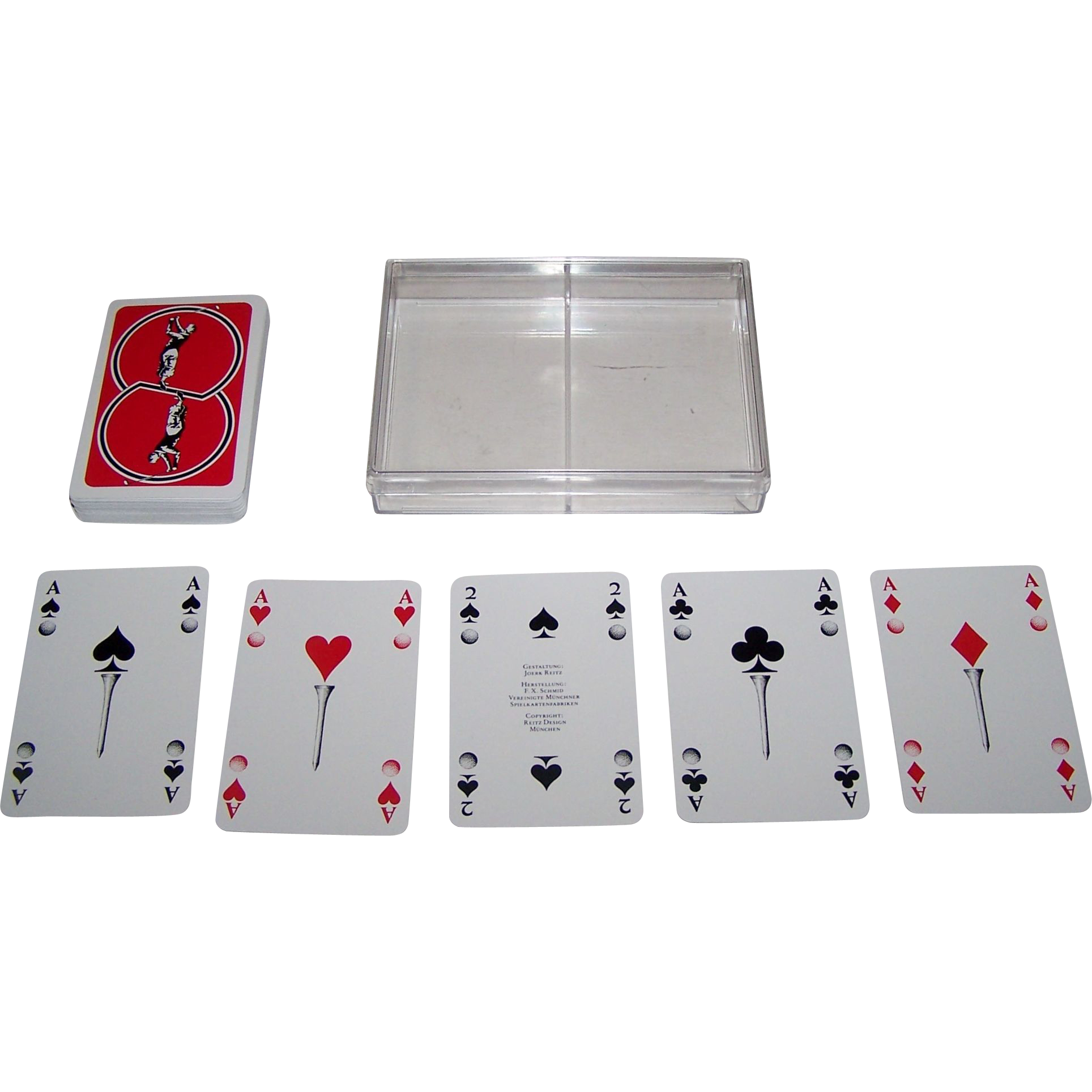 "Double Deck F.X. Schmid ""Golf"" Playing Cards, Joerk Reitz Designs"