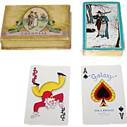 "King Press ""Galaxy Fan C Pak"" Playing Cards, ""John Alden and Priscilla"" Playing Cards, c.1930"