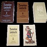 """Edizioni del Solleone di Vito Arienti """"Tarocchino Lombardo"""", Modern Edition of Gumpenberg 1835 Tarot Cards w/ Dellarocca Designs, Limited. U.S. Edition (395/500), c.1981"""