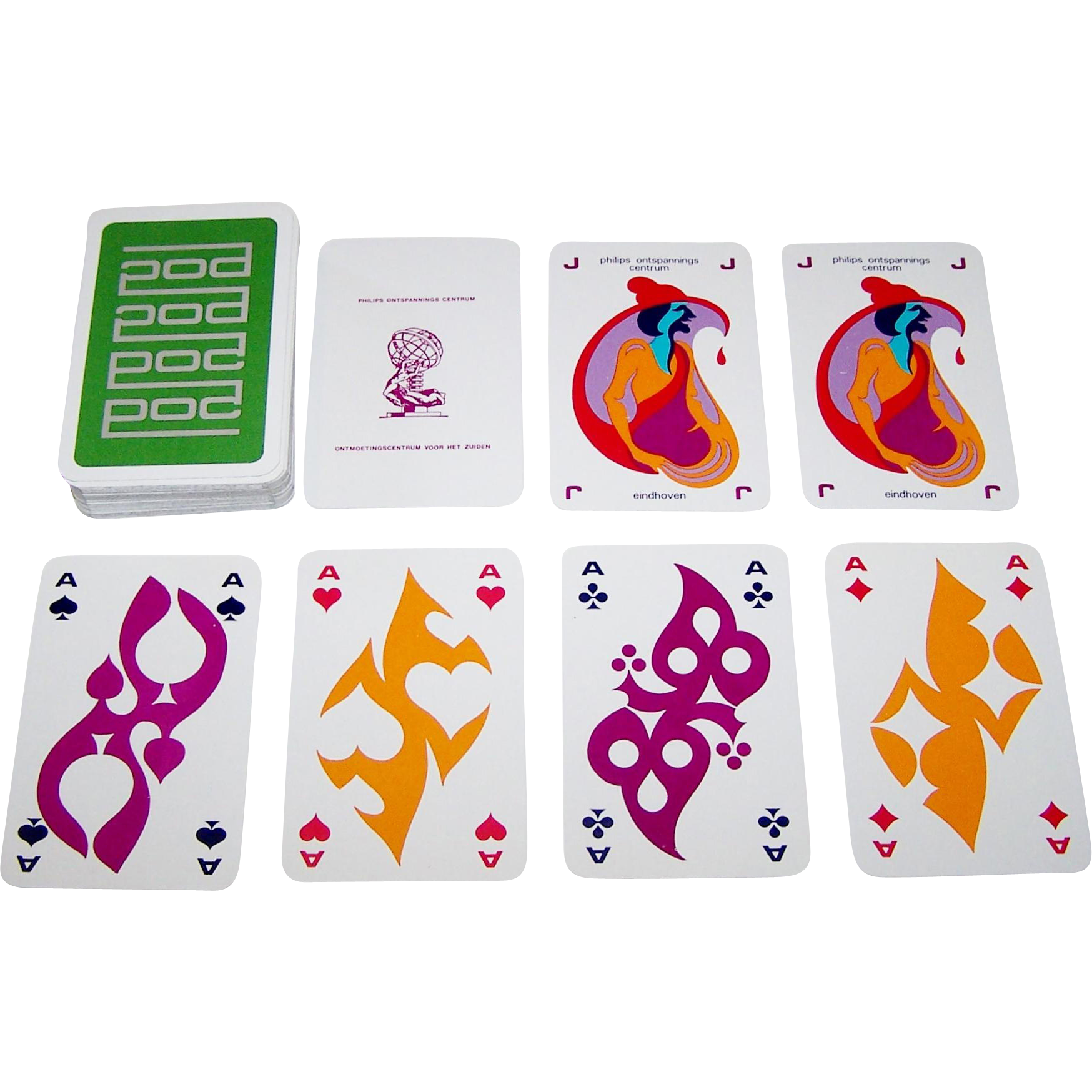 "Carta Mundi ""Philips Ontspannings Centrum"" (""Philips Relaxation Center"") Playing Cards, c.1971"