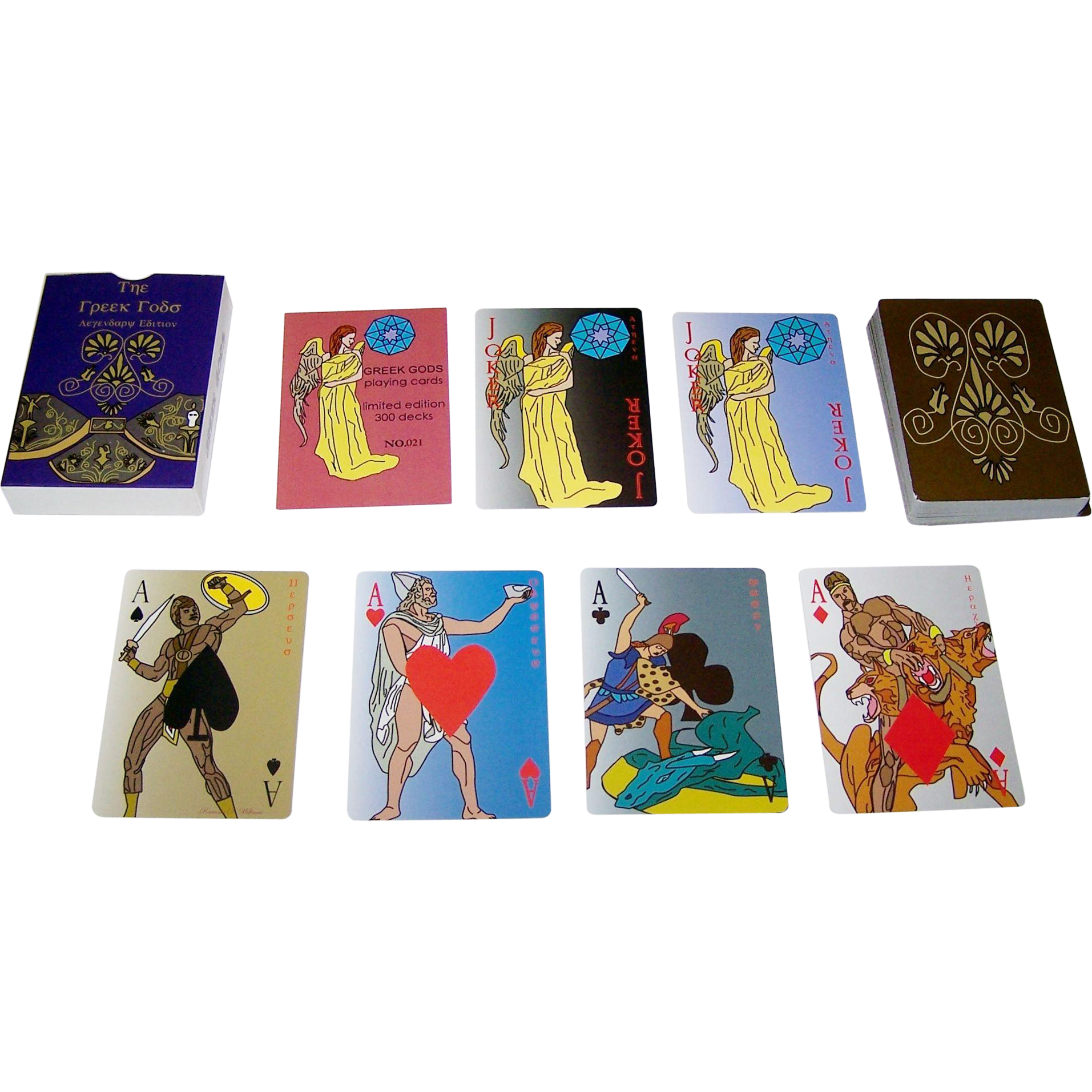 """Greek Gods"" Playing Cards, Ltd. Edition (21/300), Maker Unknown, Ramona Williams Designs"