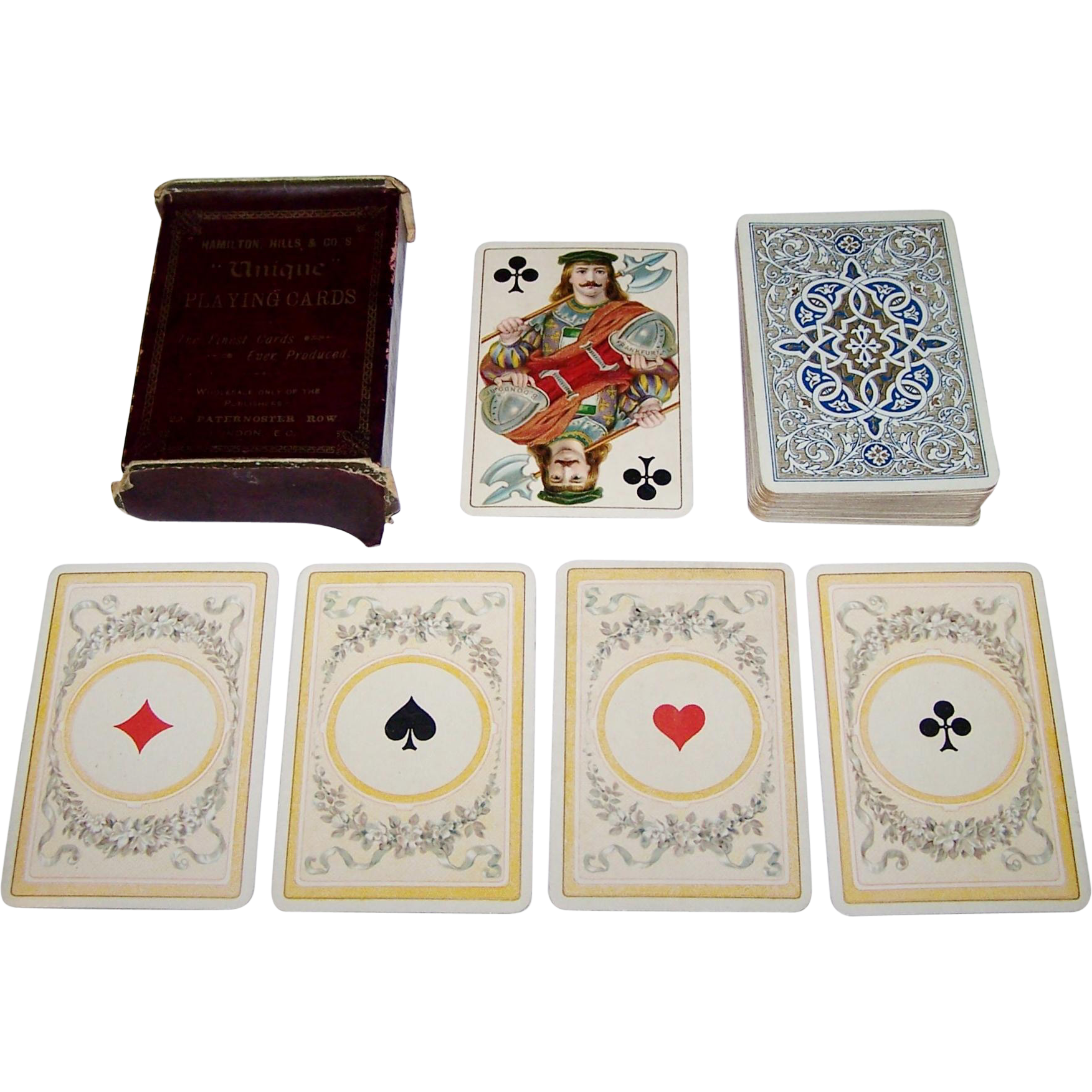 "Dondorf No. 150 ""Mittelalter"" (""Middle Ages"") Playing Cards, Hamilton, Hills & Co. ""Unique,"" c.1889-1905"