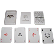 """ASS """"Syma-System"""" Skat Playing Cards, """"Semi-Transformation"""" Features, Modular Pips, c.1973"""