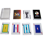 "Mitsui Gaming Machine Co. ""2002 FIFA World Cup"" Playing Cards, ""Numbered"" Jacks, ""Numbered"" Aces, Soccer Team Colors on Suits, c.2002"