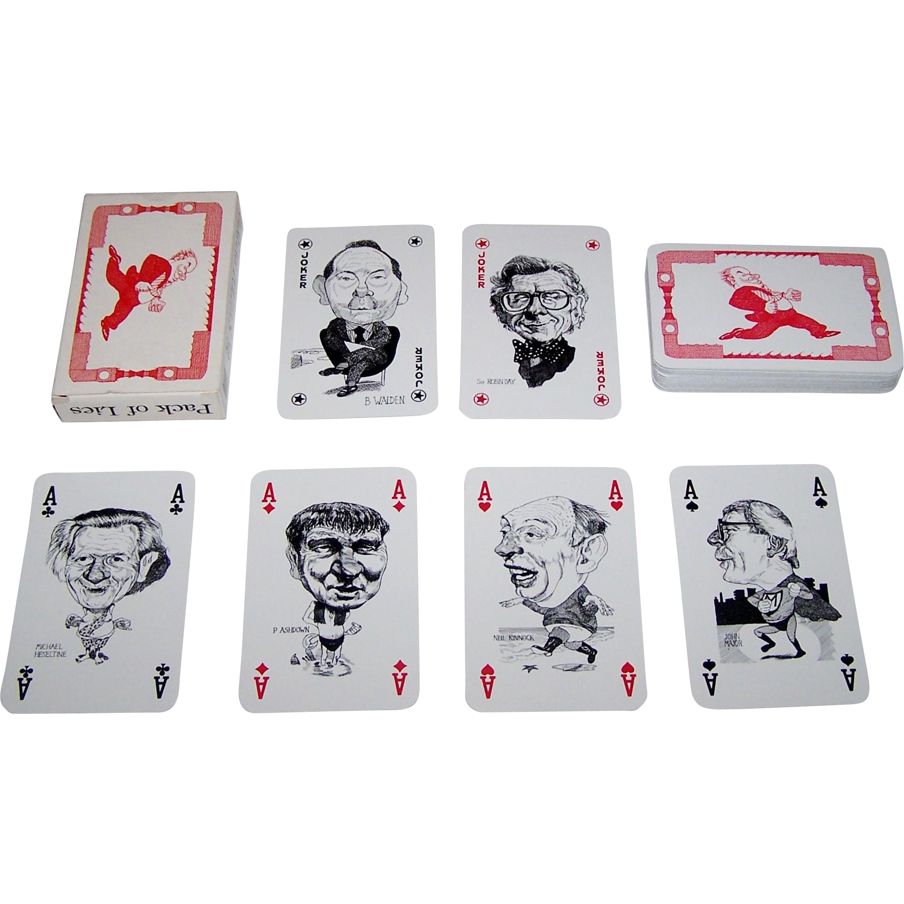 "InterCol ""Playing Politics '92 – Pack of Lies"" Playing Cards, Grant Robertson Designs, c.1992"