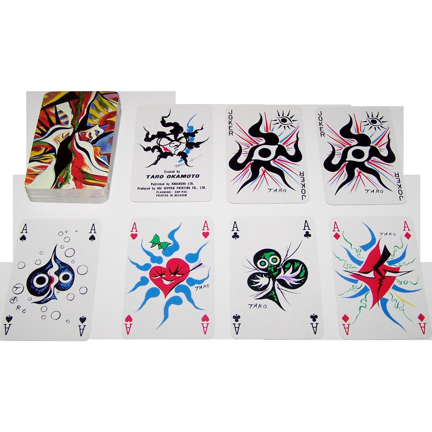"""Carta Mundi """"Taro Okamoto"""" Playing Cards, Kodansha, Ltd. Publisher, Taro Okamoto Designs, c.1977"""