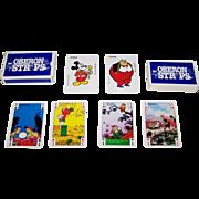 """Carta Mundi """"Oberon Strips"""" Playing Cards, c.1980"""