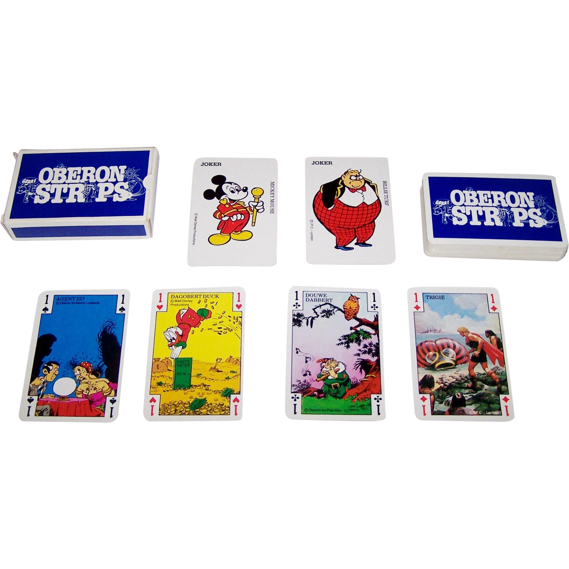 "Carta Mundi ""Oberon Strips"" Playing Cards, c.1980"